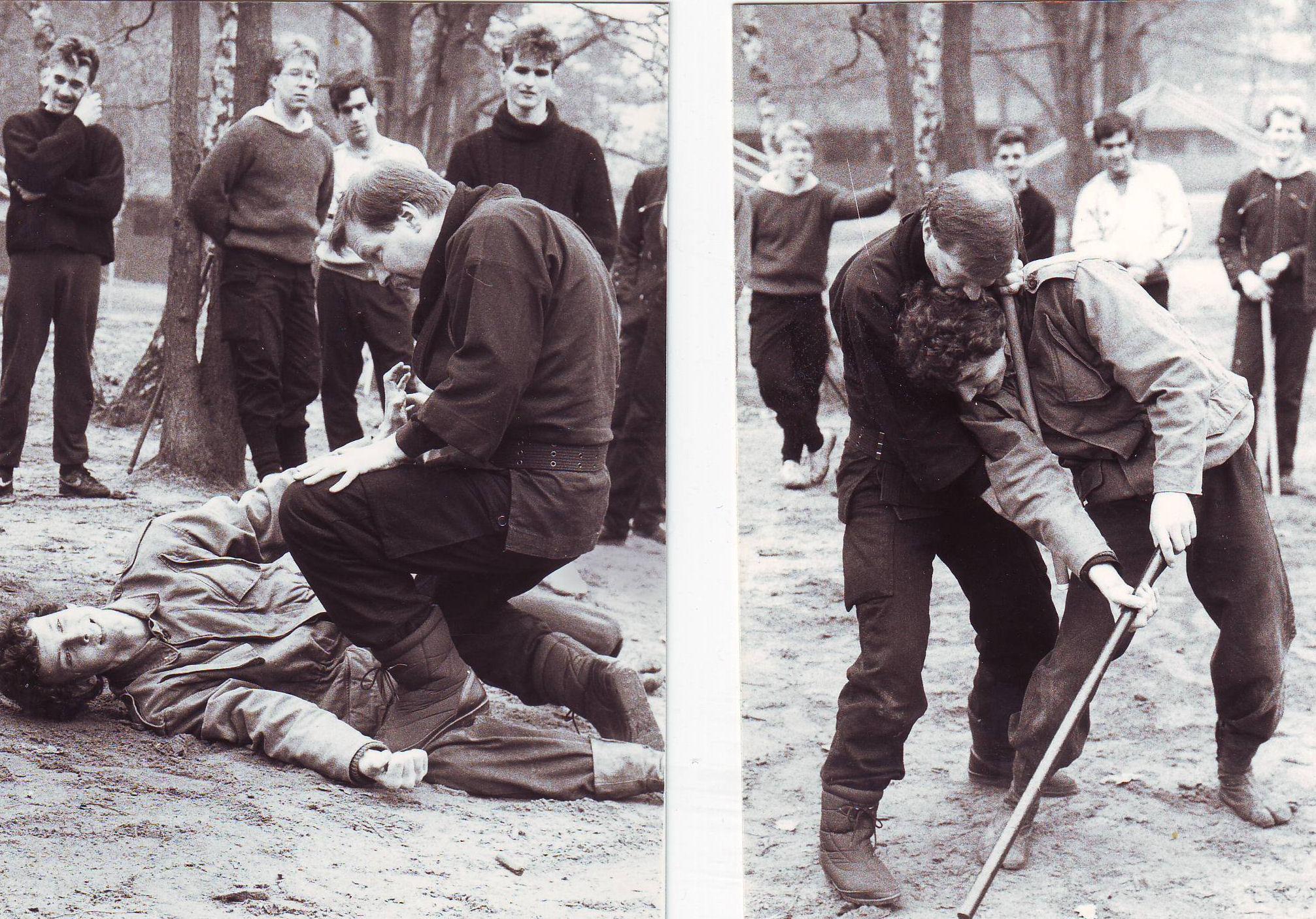1985-1986 Ninjutsu training Beekse Bergen 2